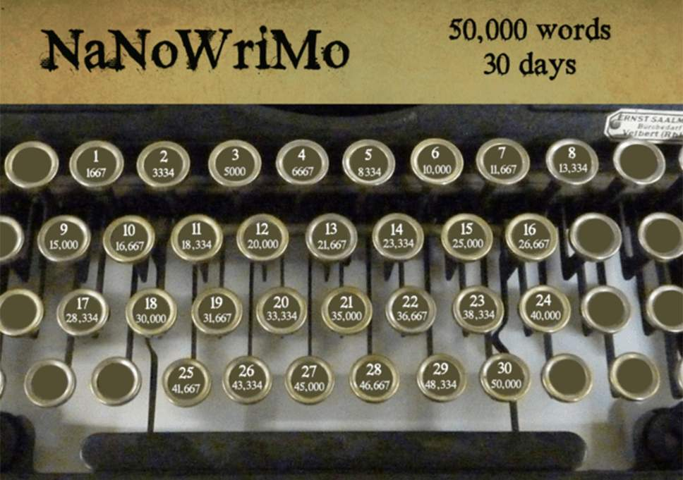 nanowrimo keys (come write in)