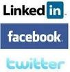 LINKEDIN FACEBOOK & TWITTER label